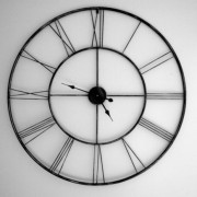 wall clock - black and white