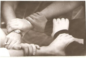 hands linked