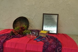 A prayer table allows participants to pray for each other throughout the conference.