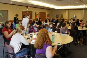 We participated in some table activities during the keynote session.  There is so much we can learn from one another!
