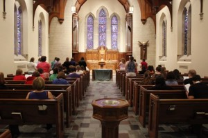 We worshiped together in the chapel at Westminster Presbyterian Church.