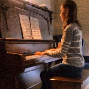 The author and her piano