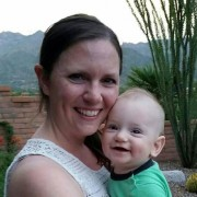 The author and her son, Luke, at home in Arizona
