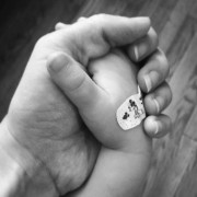 holding hands b&w