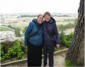 The author and her mother together in Israel.