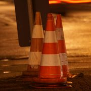 three traffic cones