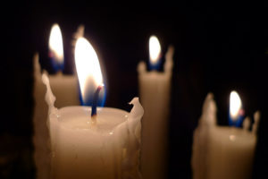 Candles lit for Advent