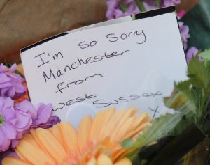 note at Manchester bombing memorial