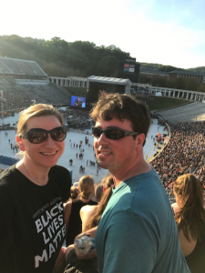 The author and her husband at the Concert for Charlottesville