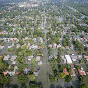 Flooding in Port Arthur, Texas, following Hurricane Harvey
