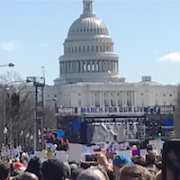 collage of pictures of participants of March for Our Lives march in Washington DC