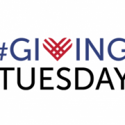giving tuesday logo with the text #GIVING over TUESDAY with a cross-hatched heart instead of a 'V' in 'Giving'