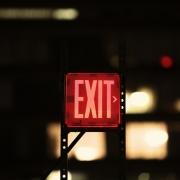 lit up exit sign