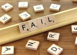 """scrabble tiles spelling """"fail"""""""