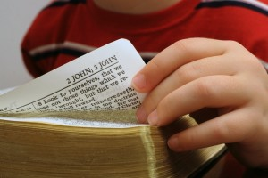 child reading bible small