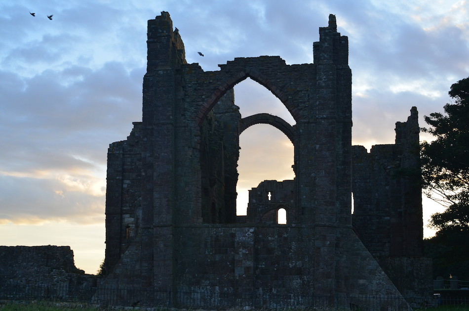 Cathedral ruins on the Holy Island of Lindisfarne, England Credit: Lori Raible