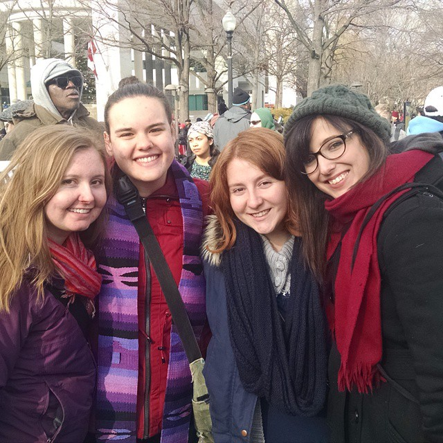 Second year YAVs march with 2013-14 YAV alums from Union Seminary. Photo cred: Amy Beth Willis
