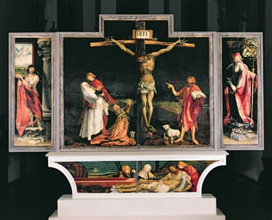 The Isenheim Altarpiece, c.1512-15 (oil on panel) Grunewald, Matthias (Mathis Nithart Gothart) (c.1480-1528) BRIDGEMAN (GIRAUDON)