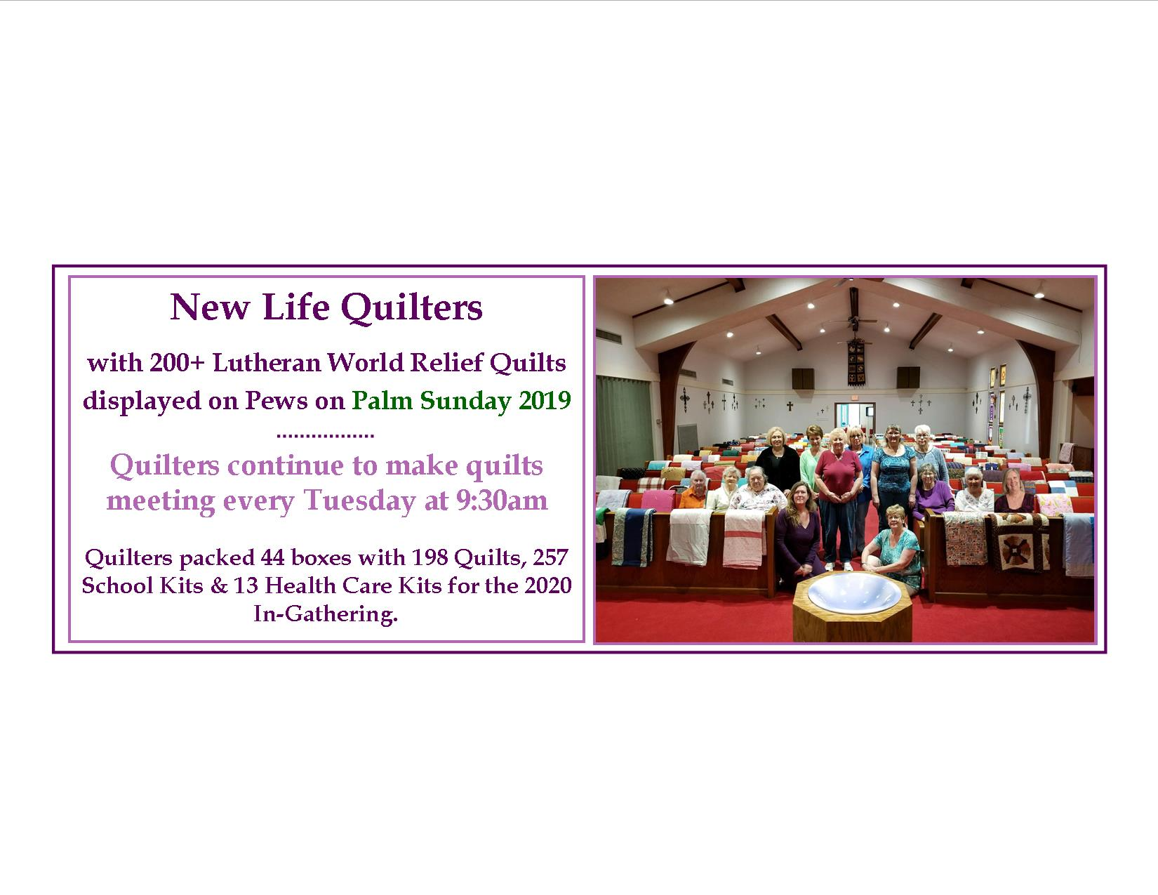 Quilters late 2020