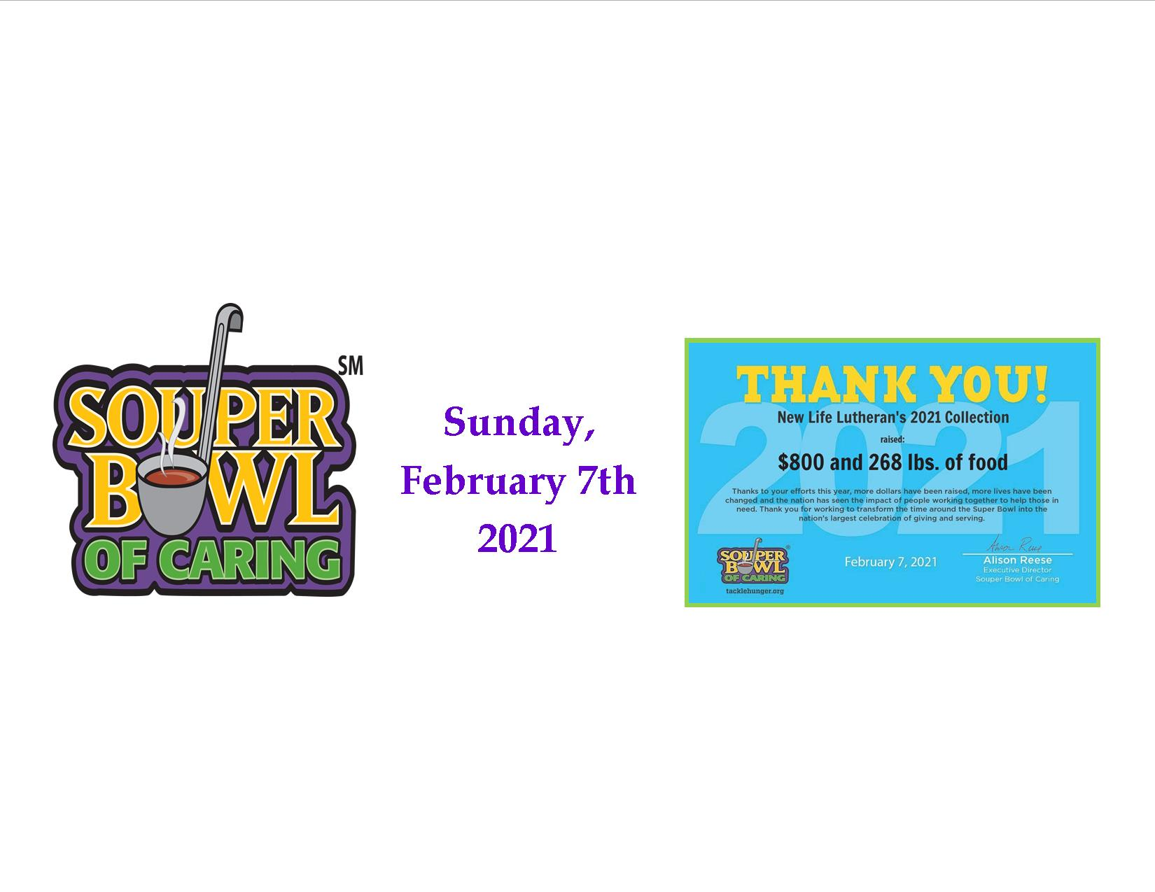 Souper Bowl of Caring 2021 results