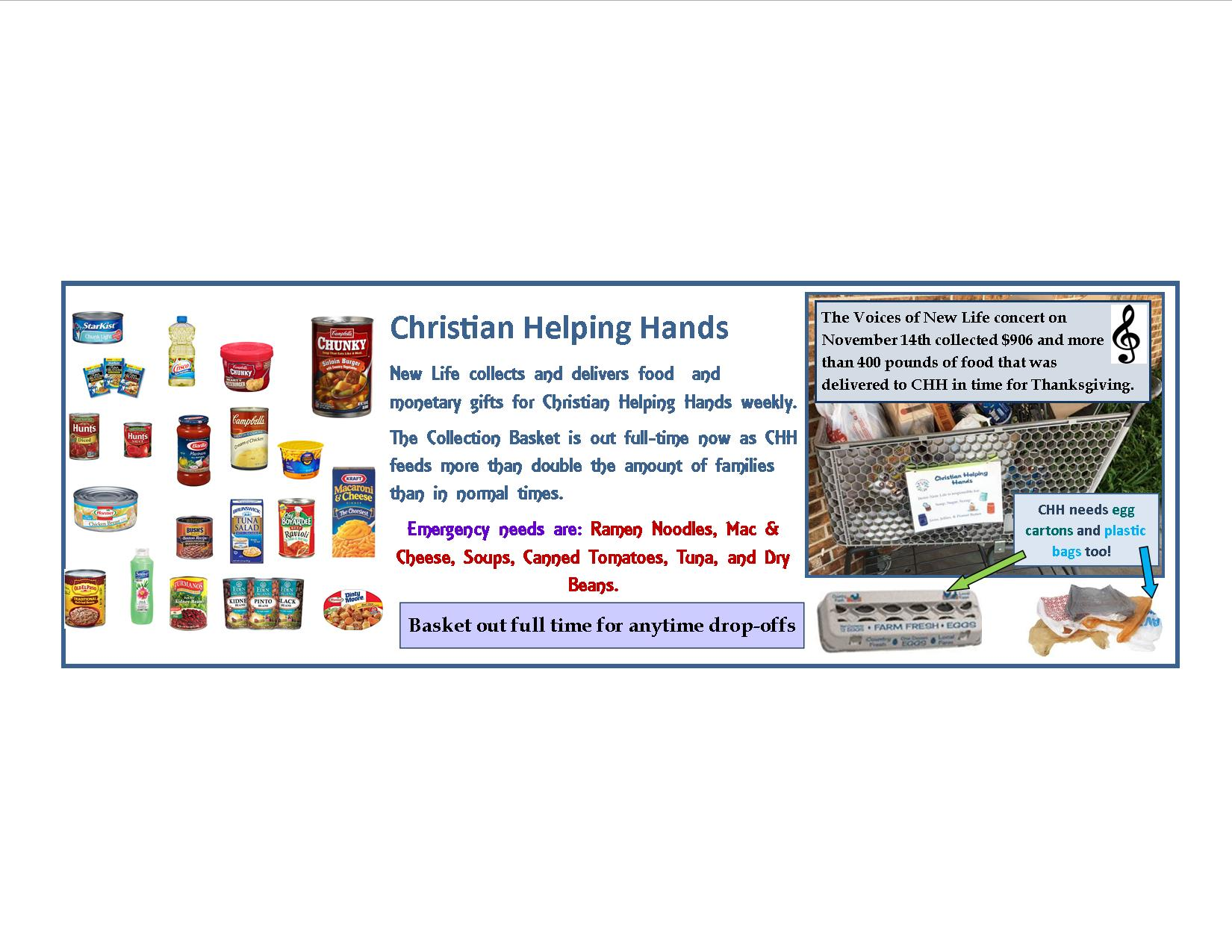 Christian Helping Hands concert proceeds 2020