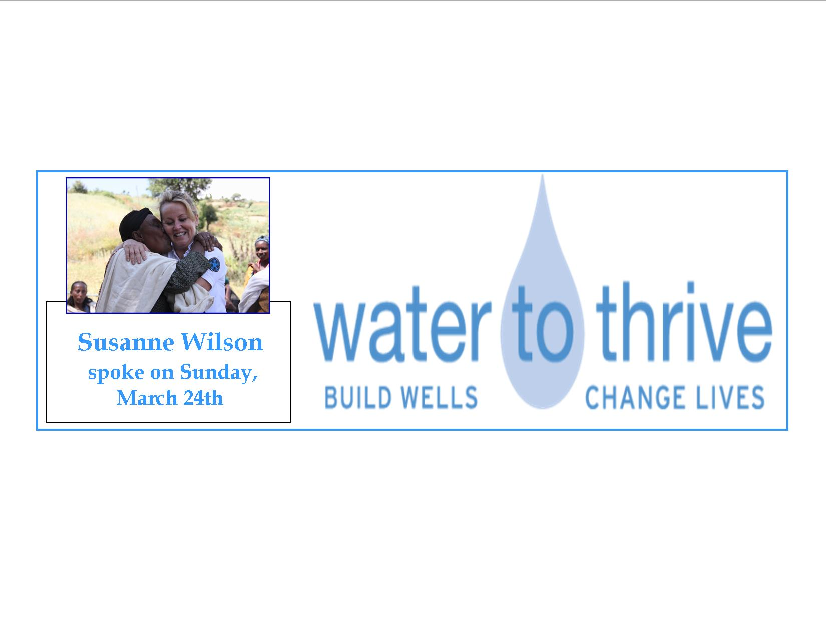 Water to Thrive Susanne