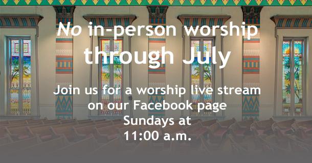 Worship announcement slide July 1, 2020
