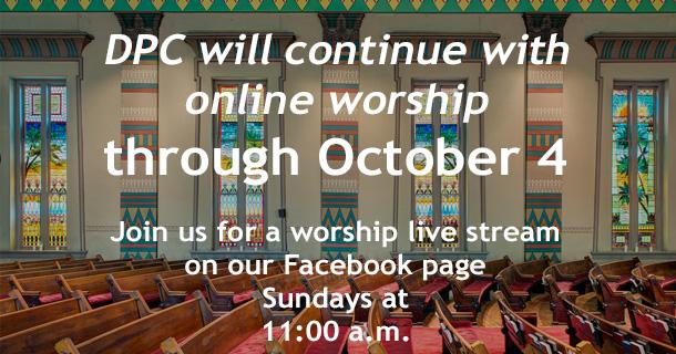 Worship announcement slide July 20, 2020