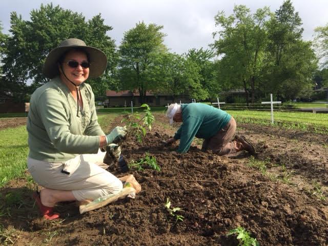 Photo: garden volunteers