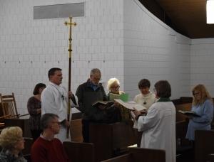 Photo: Gospel reading