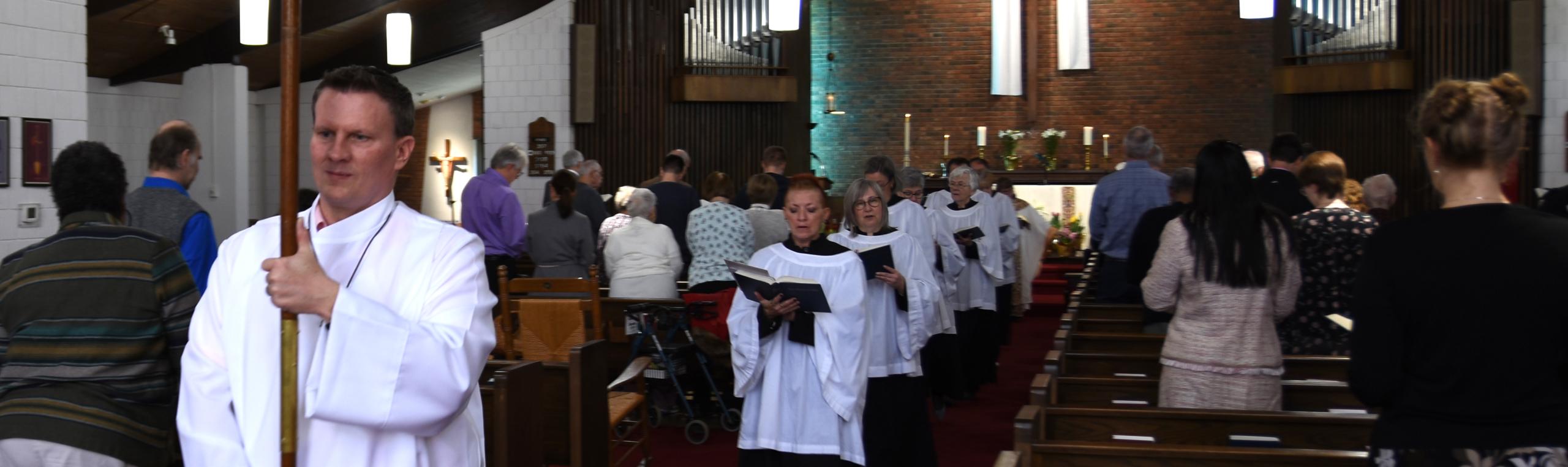 Photo: Choir recessing